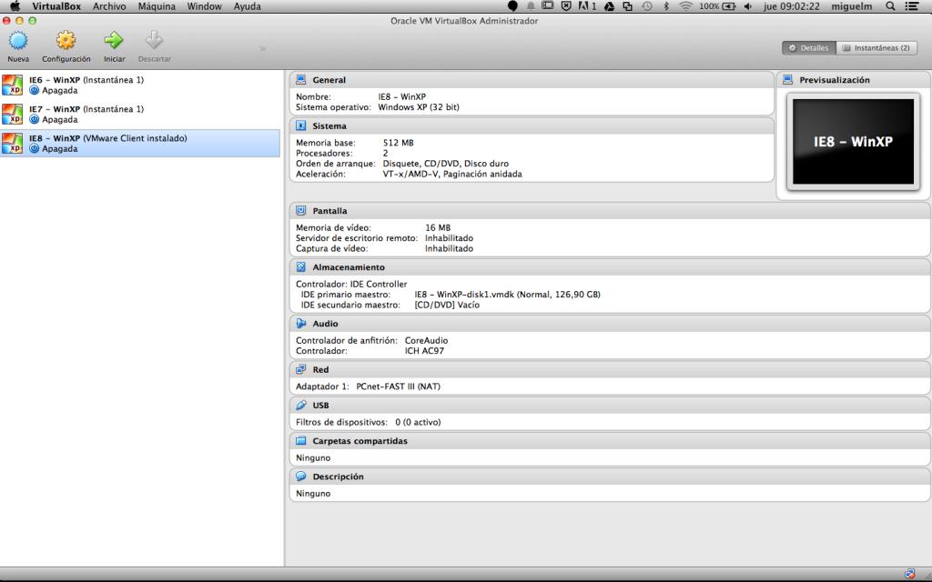 Internet Explorer en Mac (resuelto)